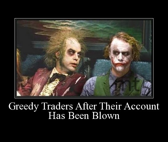 Greedy Traders After Their Account Has Been Blown