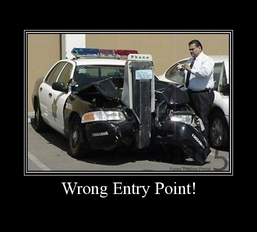 Wrong Entry Point!
