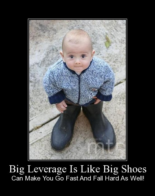 Big Leverage Is Like Big Shoes