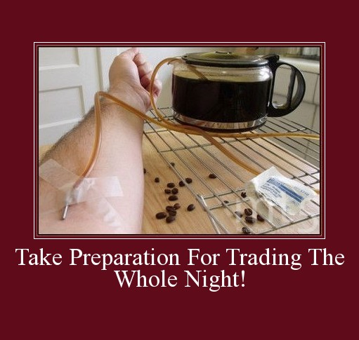 Take Preparation For Trading The Whole Night!