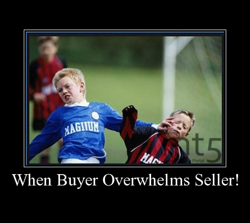 When Buyer Overwhelms Seller!