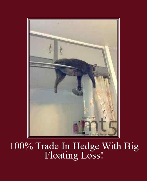 100% Trade In Hedge With Big Floating Loss!
