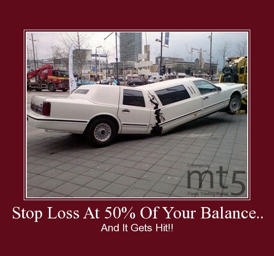 Stop Loss At 50% Of Your Balance..
