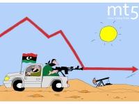 Produksi minyak Libya jatuh