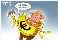German Chancellor prompts euro to rise