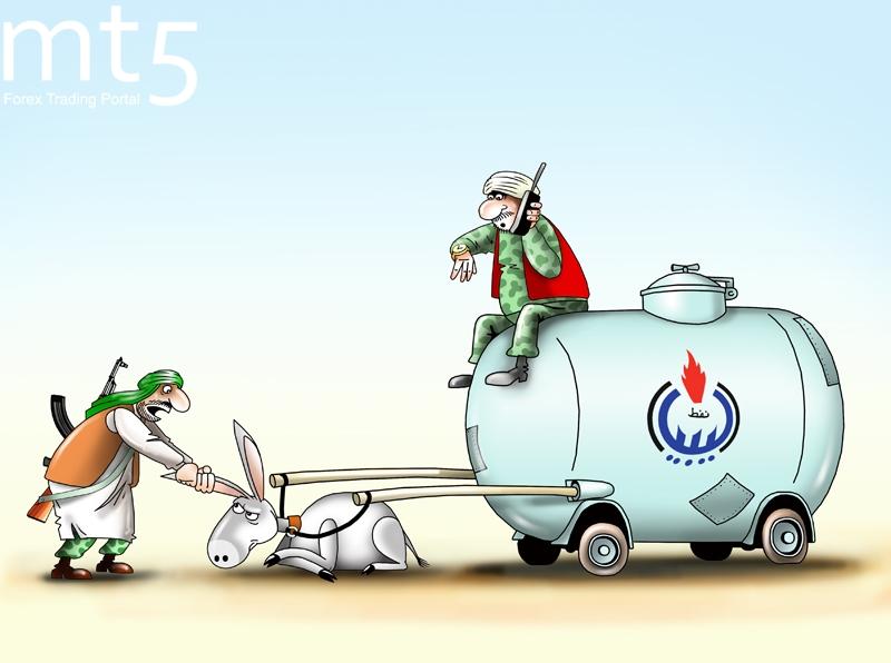 Libya menghentikan produksi di ladang minyak utama