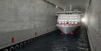 Норвегия намерена построить первый в мире полноценный тоннель для судов