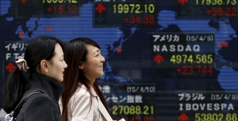 Bursa Asia naik terkait pemilihan Presiden Perancis