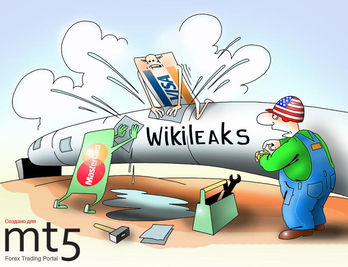 Visa и Mastercard заблокировали платежи в адрес WikiLeaks