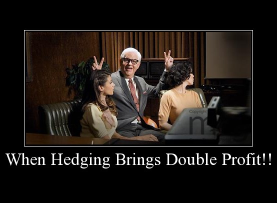 When Hedging Brings Double Profit!!