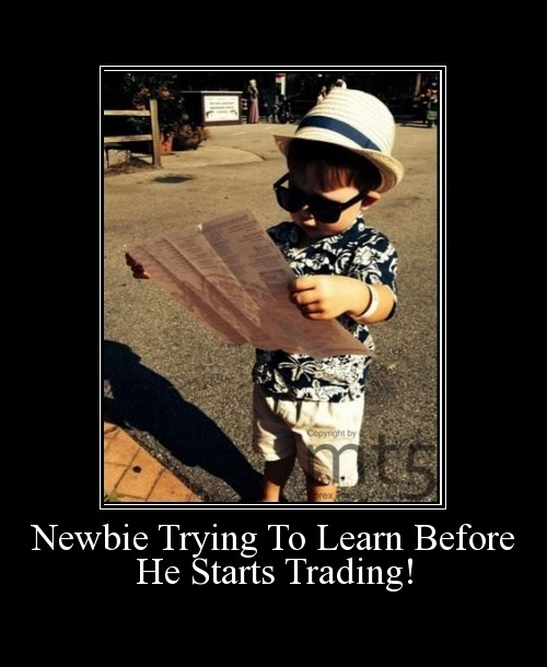 Newbie Trying To Learn Before He Starts Trading!