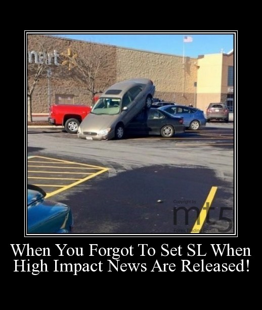 When You Forgot To Set SL When High Impact News Are Released!