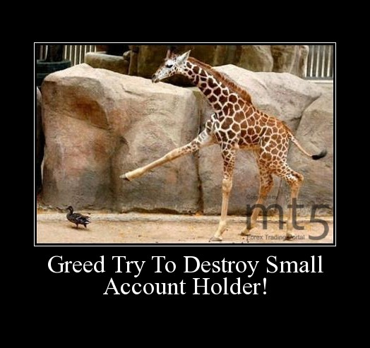Greed Try To Destroy Small Account Holder!
