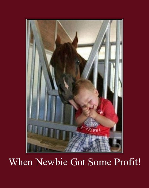 When Newbie Got Some Profit!