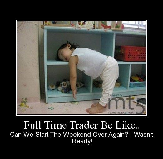 Full Time Trader Be Like..
