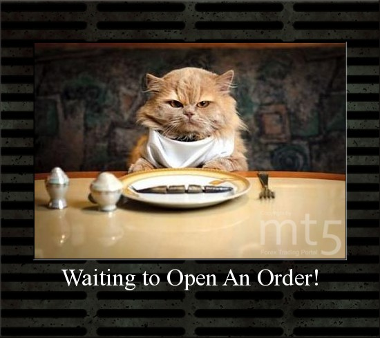 Waiting to Open An Order!