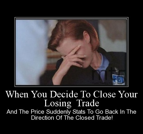 When You Decide To Close Your Losing  Trade