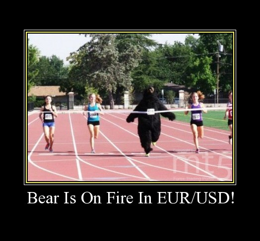 Bear Is On Fire In EUR/USD!