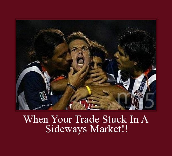 When Your Trade Stuck In A Sideways Market!!