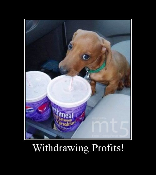Withdrawing Profits!