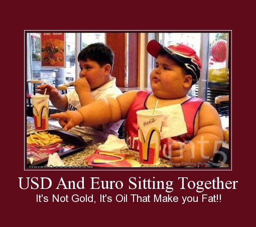 USD And Euro Sitting Together