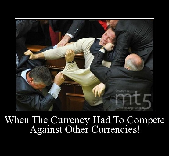 When The Currency Had To Compete Against Other Currencies!