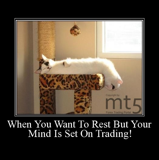 When You Want To Rest But Your Mind Is Set On Trading!