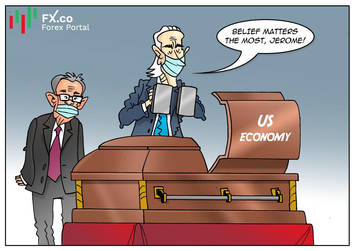 Fed prevé una larga recuperación económica