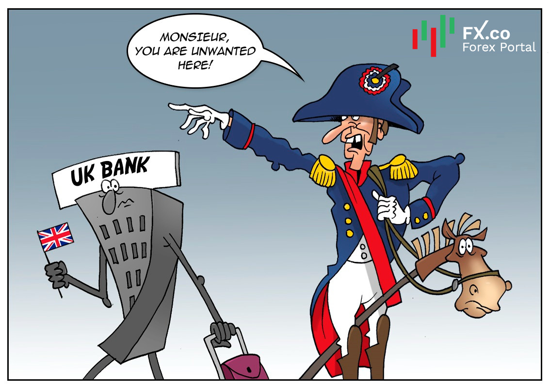 France to worsen banking relations with UK