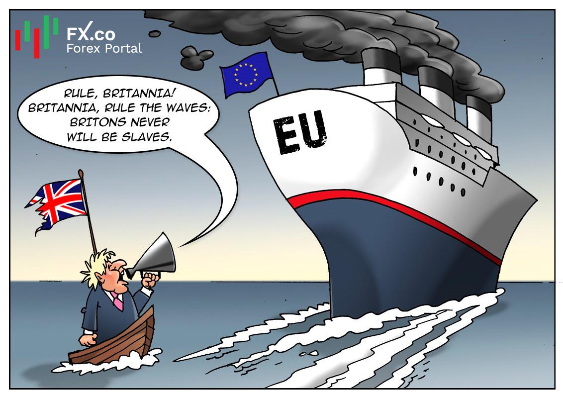 Johnson desea construir un buque insignia para promover el comercio británico