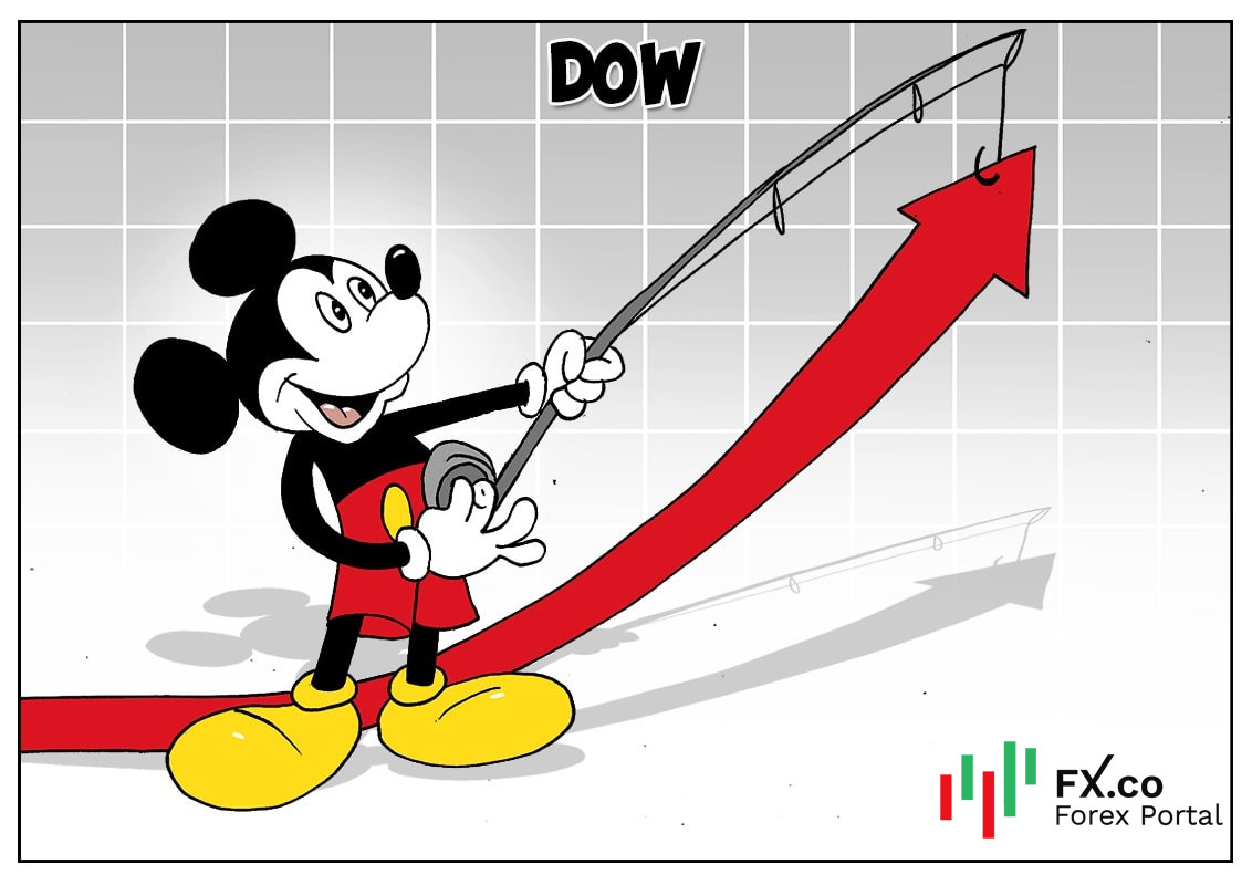 An den Börsen wurde lustiger, denn Disney machte hier eine Feier