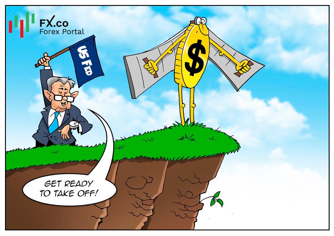 USD meningkat di tengah-tengah perbincangan pengurangan program Fed