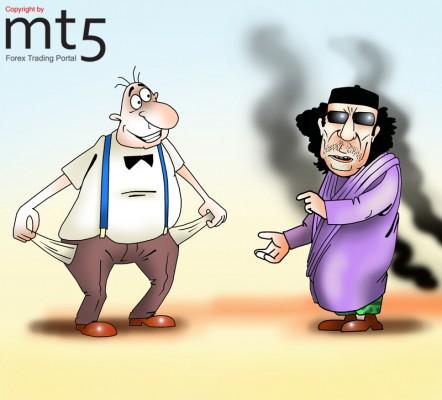 Goldman Sachs is USD 1.3 bln. indebted to Muammar Gaddafi