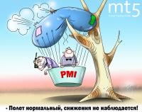 Сводный PMI еврозоны оказался минимальным за полтора года