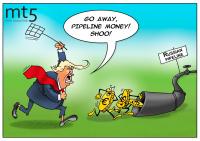 Trump merasa kesal dengan aliran 'dolar pipa gas' dari Eropa ke Rusia
