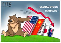 US stock market fall causes domino effect
