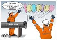 Gazprom supplies its first billion cubic meters of gas via Turkish Stream