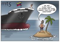 Venezuela's oil tankers stuck at sea as US sanctions tighten