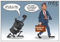 Bank-bank terkemuka AS menolak pinjaman untuk sektor minyak dan gas