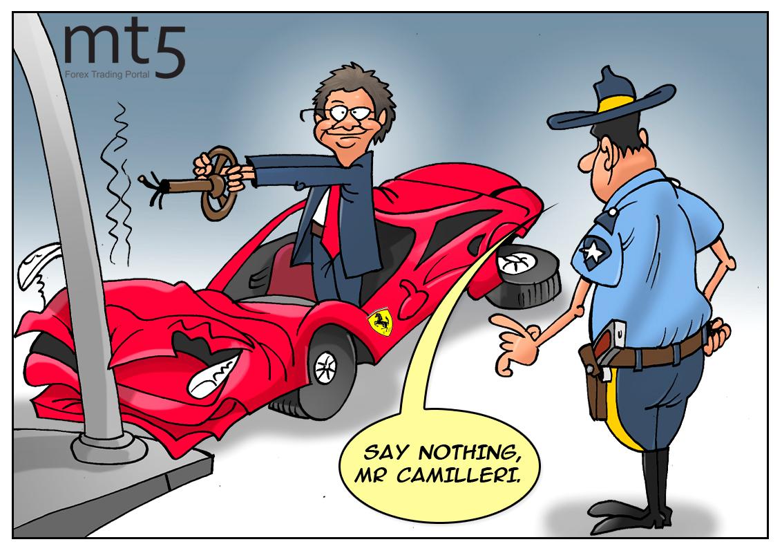Ferrari shares dive after Camilleri's speech