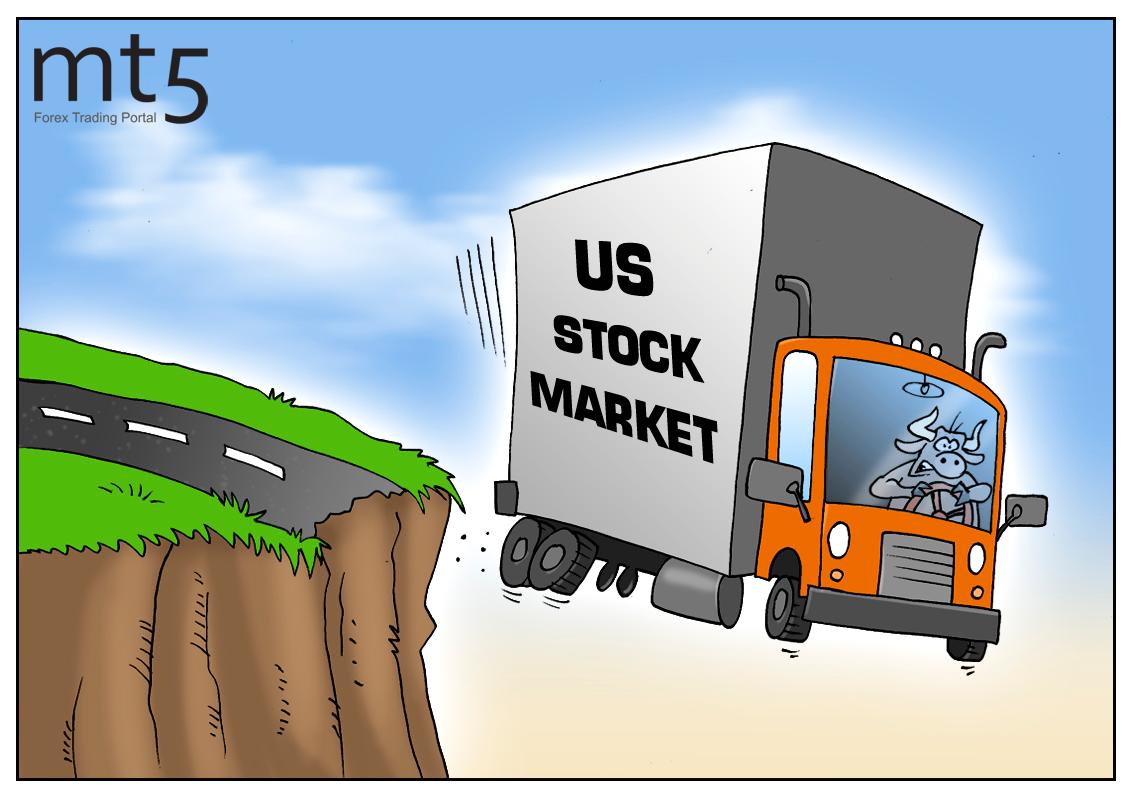 The US stock market experiences sharp decline