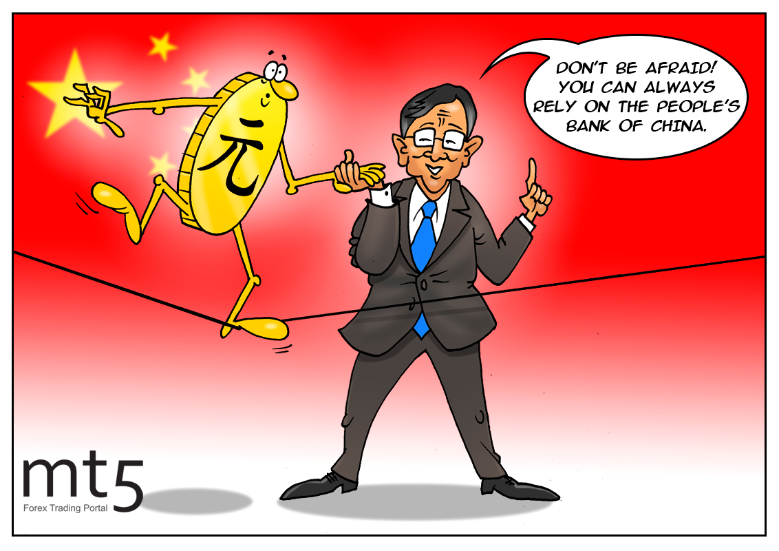 China keeps yuan from falling