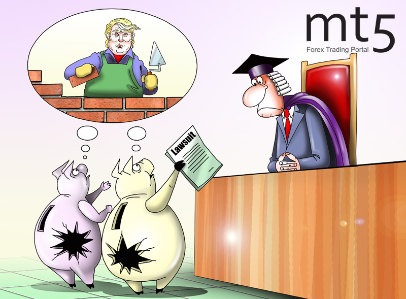 US states sue Trump over border wall