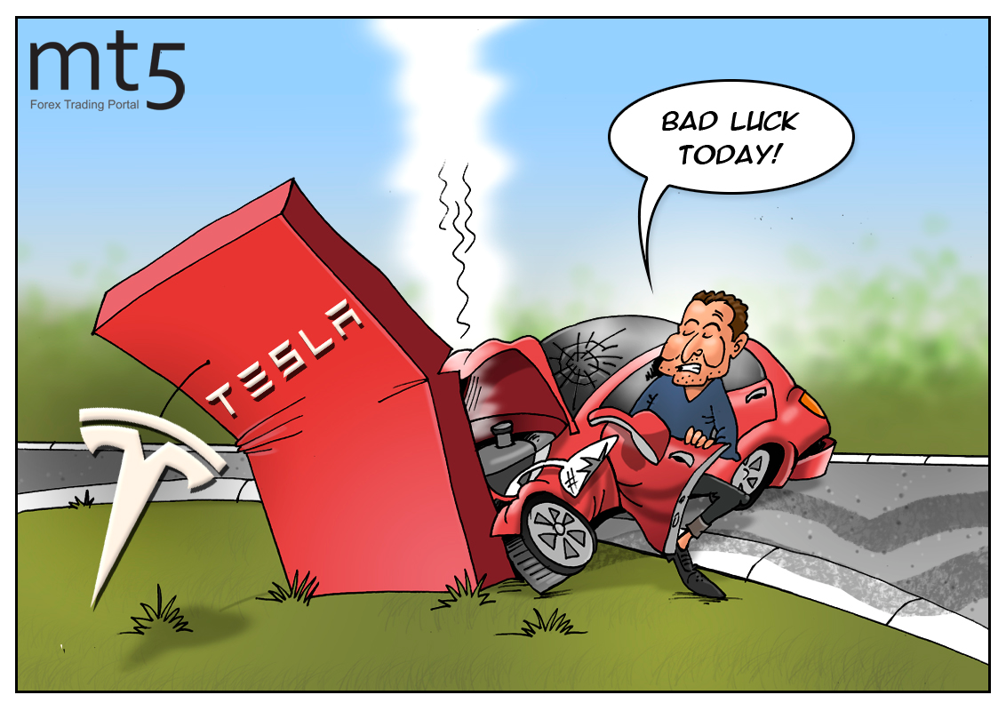 Elon Musk loses $1 bln in two minutes amid crash of Tesla stocks