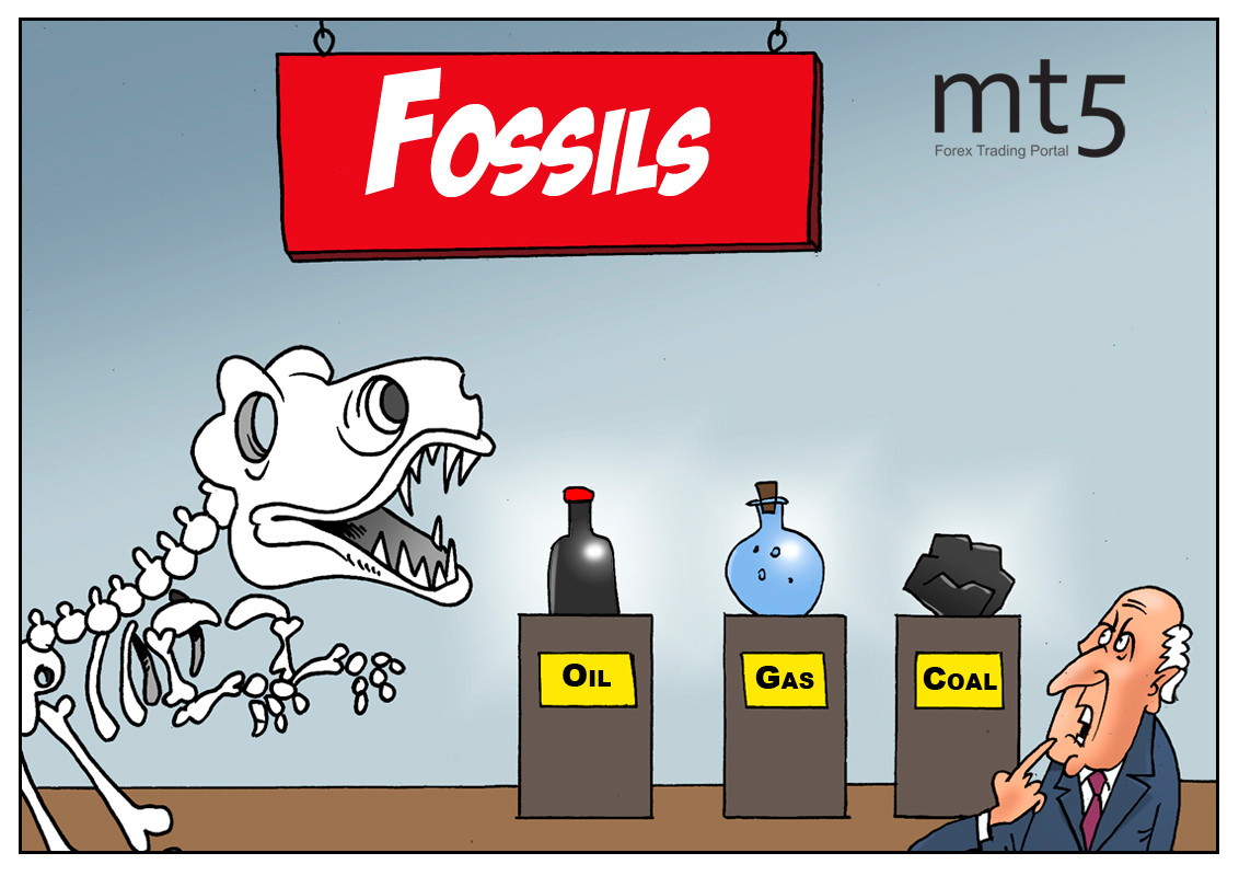 Energy efficiency of fossil fuel drops