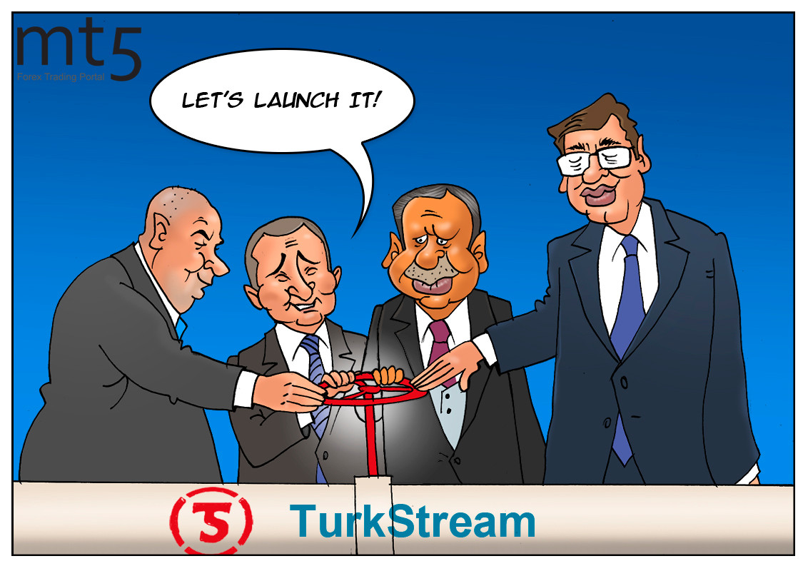 Russia and Turkey launch Turkish Stream pipeline