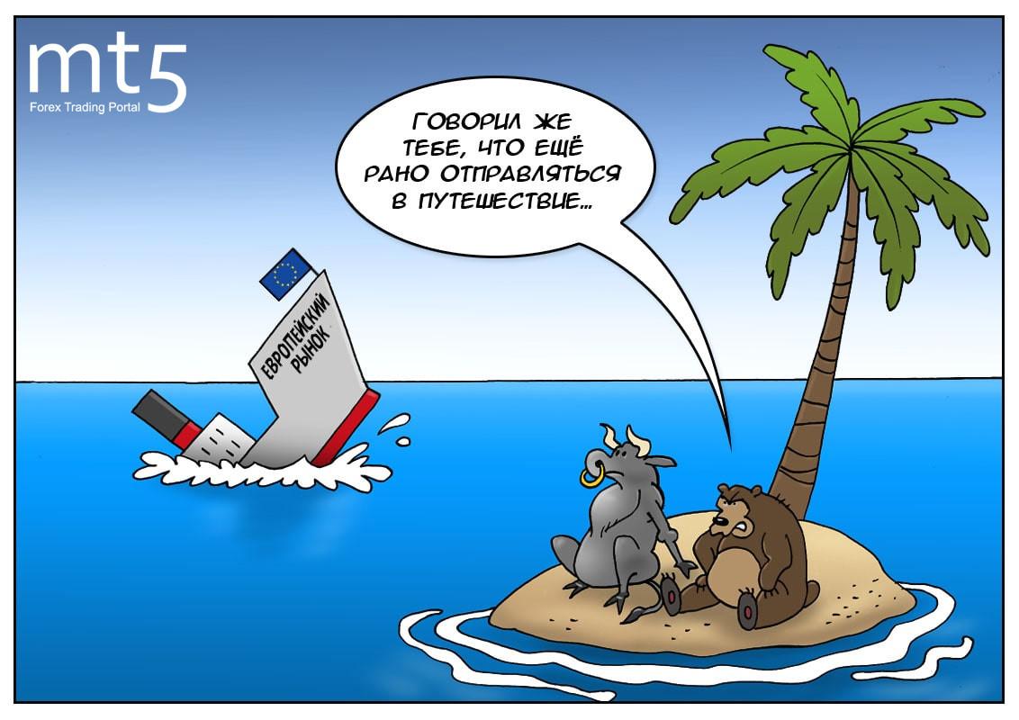 Держит в страхе всю Европу вирус, рынки местные показывают минус