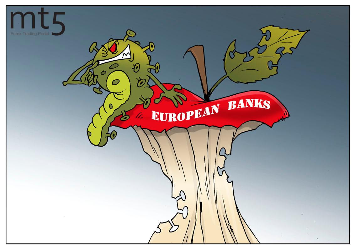 European banks extending losses amid low interest rates