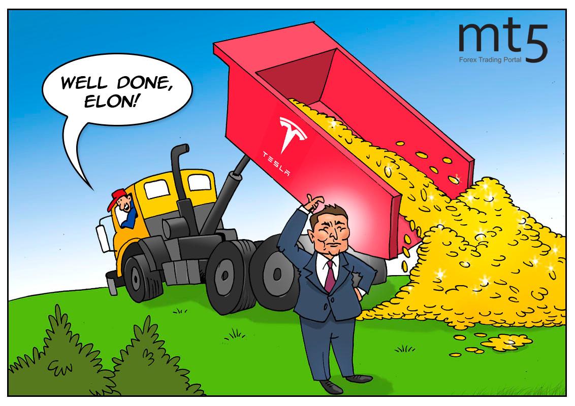 Musk menerima upah harian $2,1 miliar di tengah rally saham Tesla