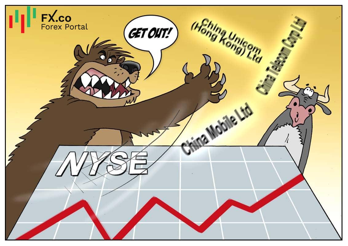 NYSE ถอนรายชื่อบริษัทด้านโรคมนาคมของจีนออก